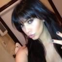 La nouvelle frange de Kim Kardashian