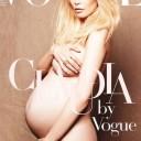 Nue et enceinte - Claudia Schiffer