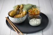 Verrines asiatiques aux pilons de poulet laqués au sésame