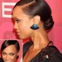 Tyra Banks : le chignon bas