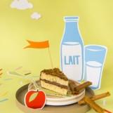 Gâteau au yaourt et son croustillant de crêpes dentelles
