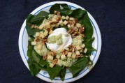 salade feuilles epinards