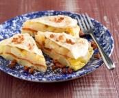 Crêpe et sa tortilla de pommes de terre et poivrons rouges