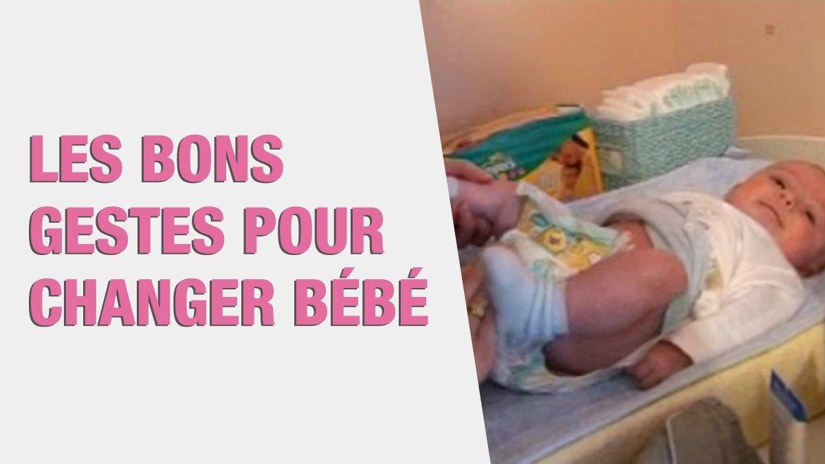 Les bons gestes pour changer b b une vid o grossesse doctissimo - Feter les 1 an de bebe ...