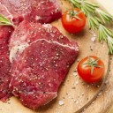 viande avec des herbes
