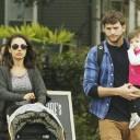 Ashton Kutcher, Mila Kunis et Wyatt