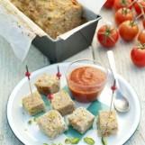Pain de veau aux tomates confites et pistaches