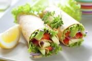 Wraps de légumes croquants