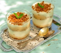 Triffle croquant abricot/romarin