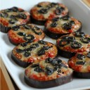 Minis pizzas d'aubergine
