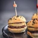 Minis burgers foie gras et confit de figue