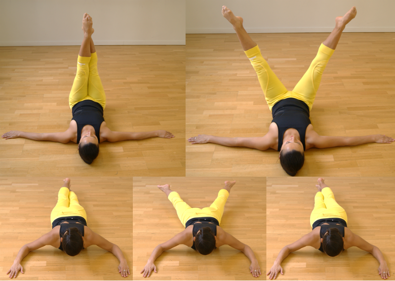 Barre au sol exercice pour renforcer les abdominaux et for Etirement cuisse interieur