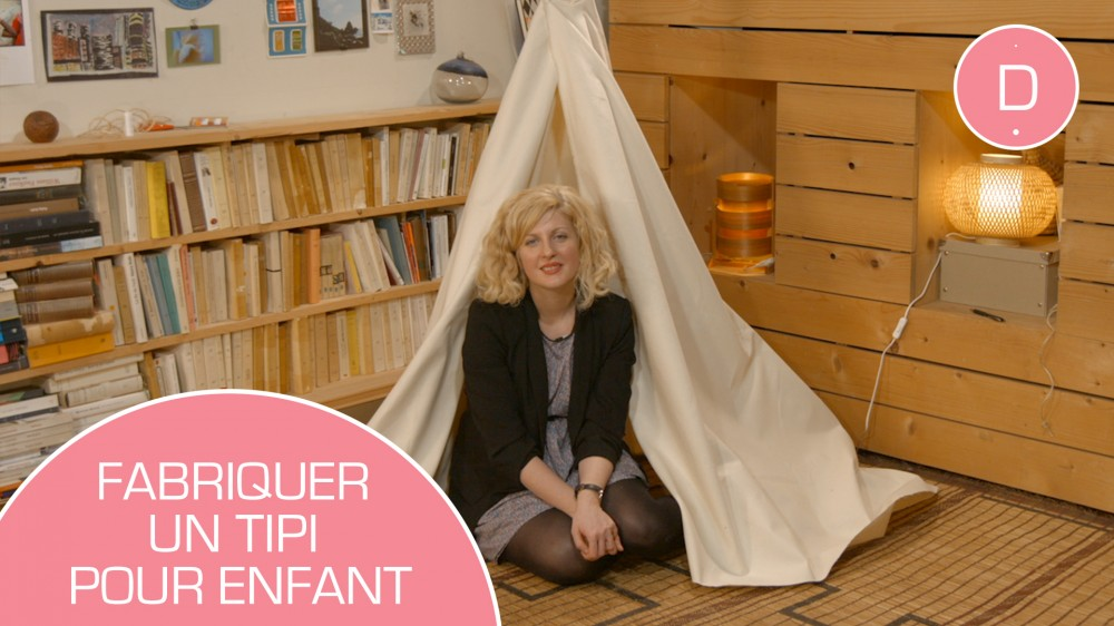 fabriquer un tipi pour les enfants tutoriel facile une. Black Bedroom Furniture Sets. Home Design Ideas