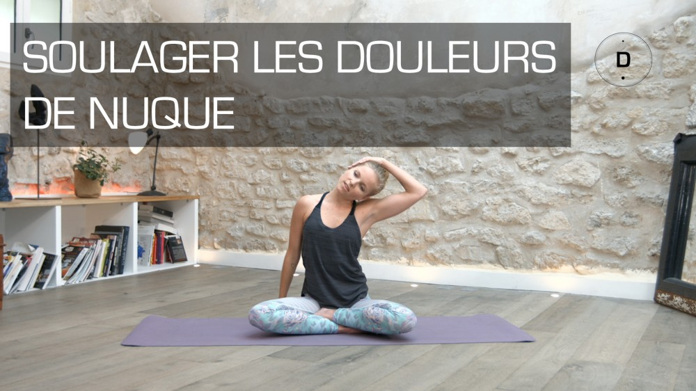 yoga pour soulager les douleurs cervicales une vid o forme doctissimo. Black Bedroom Furniture Sets. Home Design Ideas