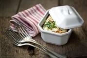 Gratin de quinoa aux petits légumes et chèvre frais