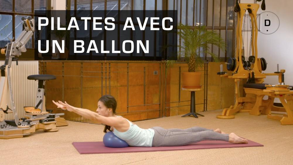 pilates avec ballon exercices de pilates avec un ballon une vid o forme doctissimo. Black Bedroom Furniture Sets. Home Design Ideas