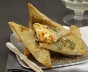 Samoussas de Saint-Jacques et crevettes
