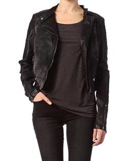 Veste en jeans femme noir