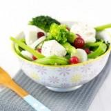 Salade de haricots plats au St Môret