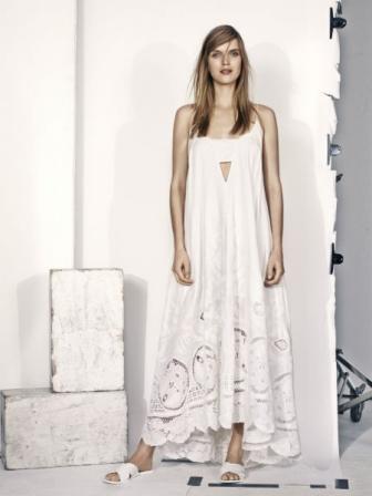 H et m robe femme blanche
