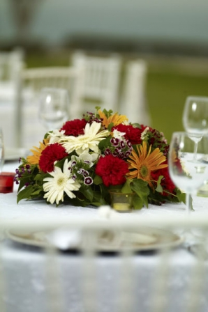 Composition florale mariage centre de table diaporama - Composition florale table mariage ...
