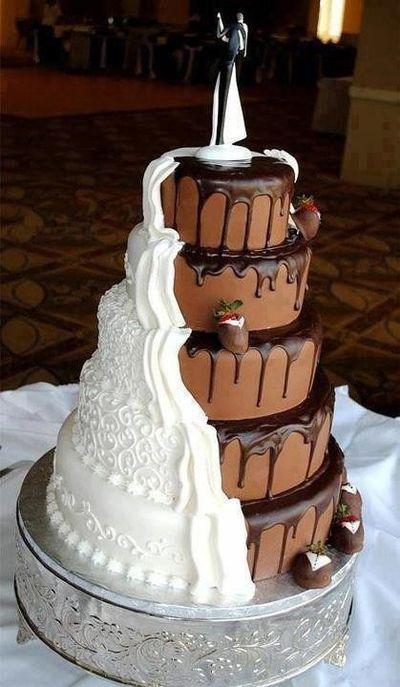 de mariage chocolat et chantilly - 30 idées de gâteau de mariage ...
