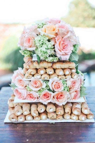 Gâteau de mariage cannoli - 30 idées de gâteaux de mariage ...