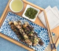 brochettes-de-thon-aux-poires-beurre-sauce-soja