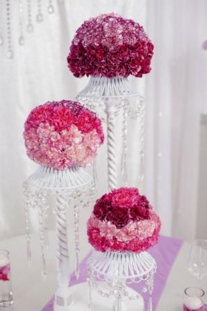 composition florale pour centre de table mariage diaporama beaut doctissimo. Black Bedroom Furniture Sets. Home Design Ideas