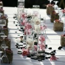 Vase mariage centre table