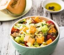 salade-de-melon-au-poulet-marine