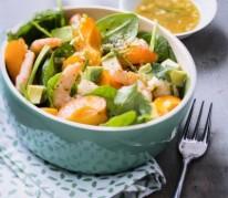 salade-de-crevettes-pimentee-aux-abricots