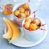 Billes de melon de nos régions caramélisées