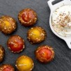 Tomates cerises au caramel et chantilly salée
