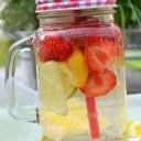 detox water citron fraises