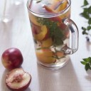 detox water pêches menthe