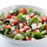 Salade fruitée aux pousses d'épinards
