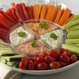 Petits légumes à la sauce cocktail