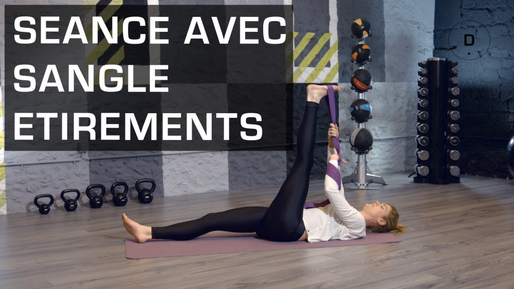 exercices avec sangle tirement fitness master class une vid o forme doctissimo. Black Bedroom Furniture Sets. Home Design Ideas