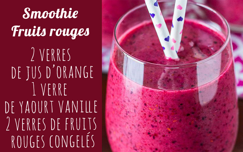 recette smoothie smoothie fruits rouges diaporama
