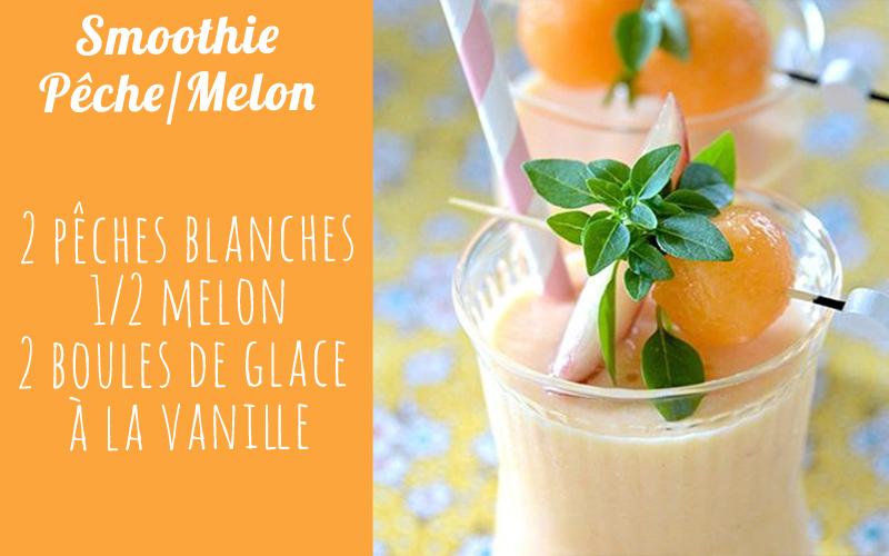 recette smoothie smoothie p che melon et vanille diaporama nutrition doctissimo. Black Bedroom Furniture Sets. Home Design Ideas