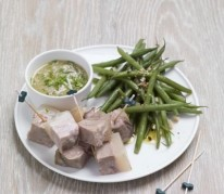 bouchees-de-tete-de-veau-et-salade-de-haricots-verts
