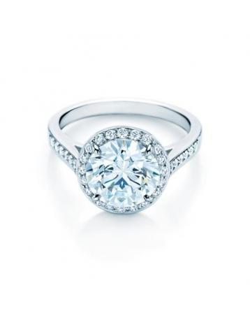 bague de fiançailles tiffany solitaire pavé de diamants tiffany prix ...
