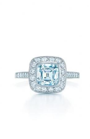 bague de fiançailles or blanc et diamants tiffany solitaire pavé de ...