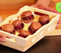 Macarons chocolat-framboises
