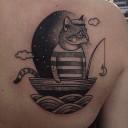 Tatouage chat marin