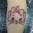 Tatouage chat Marie Les Aristochats