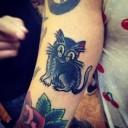 Tatouage chat maléfique