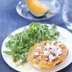 Tatin de melon au thym et chèvre frais