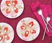 Salade de fraises, radis et betterave façon carpaccio